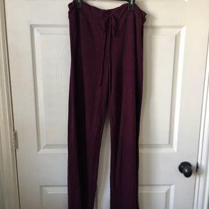 dark purple lounge pants